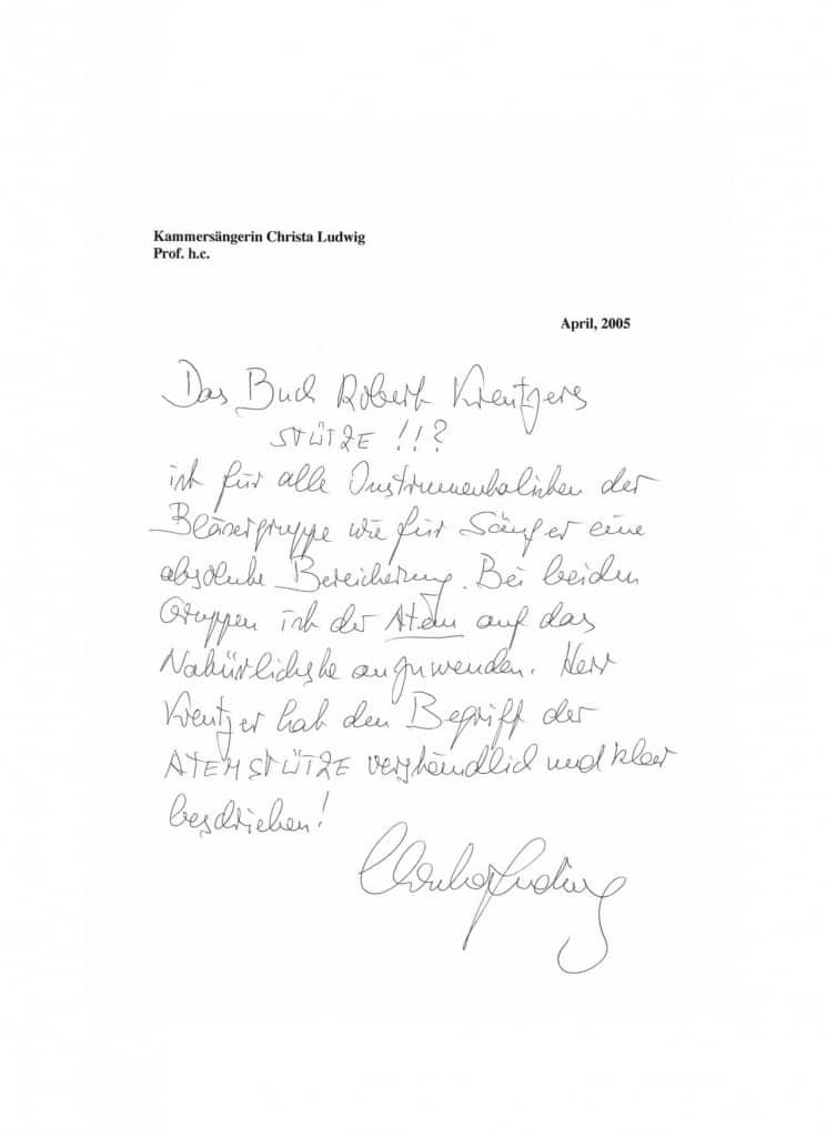Christa Ludwig, Kammersängerin, Prof. h.c. (zuerst Kammersängerin, dann Prof. h.c.)