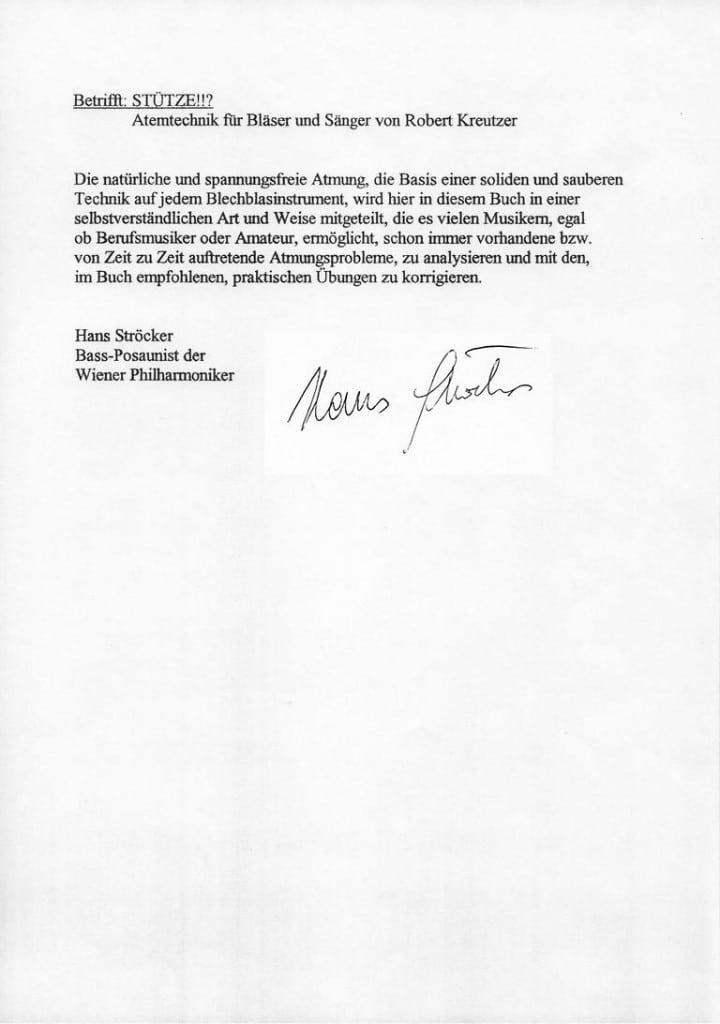 Hans Ströcker, Bass-Posaunist der Wiener Philharmoniker, Prof.